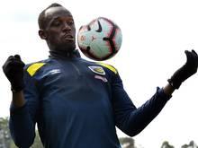 Einwöchige Fußball-Pause für Usain Bolt