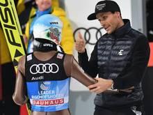 Sven Hannawald (r.) bleibt TV-Experte bei Eurosport