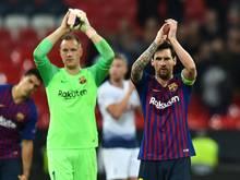 Ter Stegen (l.) und Messi werden geschont