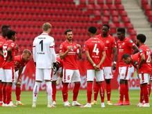 Die Mainzer Spieler solidarisierten sich unter der Woche