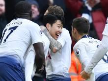 Heung Min Son erzielt den Siegtreffer für die Spurs