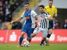 Fabio Kaufmann (r.) wechselt aus Aalen nach Cottbus