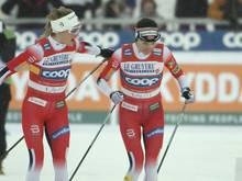 Saisonende: Therese Johaug und Heidi Weng