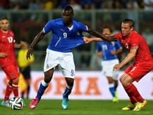 Italien um Mario Balotelli kam nicht über ein 1:1 hinaus