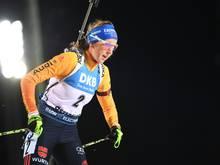 Franziska Preuß lief als Schlussläuferin der Staffel