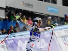 Viktoria Rebensburg feiert Sieg im Super-G-Rennen