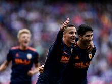 Moreno und Soler (v.l.) treffen für Valencia