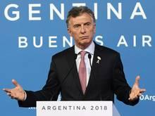 Mauricio Macri kündigt ein neues Anti-Gewalt-Gesetz an