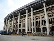 Das Luzhniki-Stadion in Moskau ist in Brand geraten