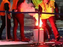 Fan-Ausschreitungen: Spiel in Lüttich abgebrochen