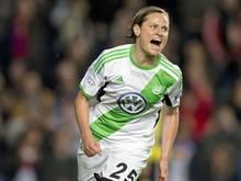Martina Müller traf drei Mal für den VfL Wolfsburg